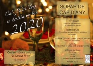 Cas Padri Toni | Eventos - Sopar Cap d'Any